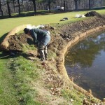 Pond After Dredge with Coir