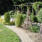 Paths, Walls & Veg Garden