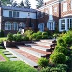 Fieldstone & Brick Stairs Rye