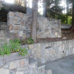 Lakefront Stone Walls and Planters