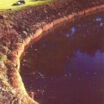 coir logs water stabilization for golf green
