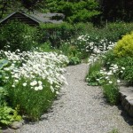 Gravel Walkways with Stone Walls & Perennial Plantings