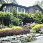 Gravel Driveway and Stone Walls Plantings